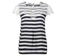 Bluse navy / weiß