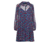 Kleid 'rosa Crinkle' blau / rot
