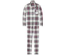 Schlafanzüge 'Arah brushed flannel set'