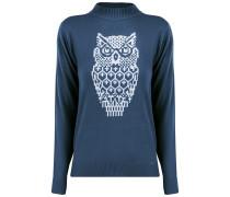 Pullover blau / weiß