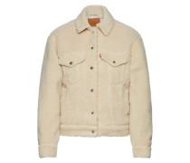Teddyjacke 'sherpa Trucker' beige