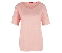 Jacquard-Shirt rosa / weiß