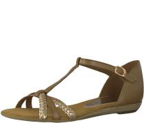 Sandale geflochten braun
