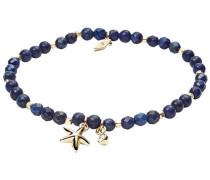 Armband 'Seestern' blau / gold