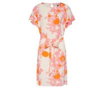 Kleid orange / pink / weiß