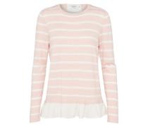 Pullover 'elvira' rosa / weiß
