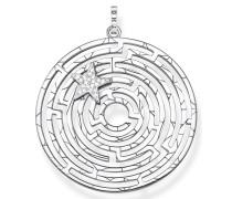 Kettenanhänger 'Labyrinth mit nen Stern'
