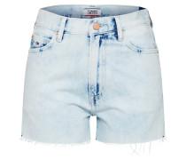 Jeansshorts blue denim / rot / weiß