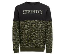 Sweatshirt oliv / schwarz