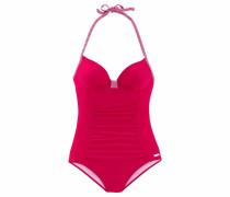 Badeanzug pink / weiß