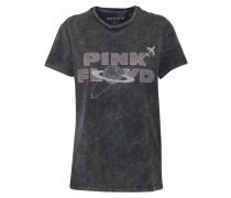 Bandshirt im Used-Look anthrazit