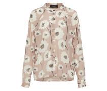 florale Bluse puder / weiß