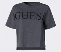 Shirt graumeliert / schwarz