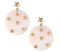 Ohrringe 'Star Embellished Mop Disc' gold