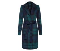Mantel nachtblau / grün / tanne