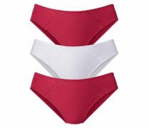 Slip (3 Stück) rot / weiß
