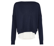Pullover 'onlROSANA Shen' dunkelblau / weiß