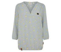 Casual Bluse gelb / grau