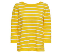 Pullover senf / naturweiß