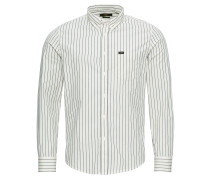 Hemd 'button Down' schwarz / weiß