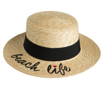Hut beige / schwarz