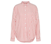 Bluse 'casual Stripe' rot / weiß