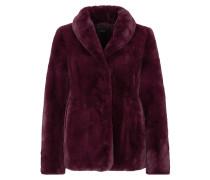 Fake Fur-Jacke blutrot