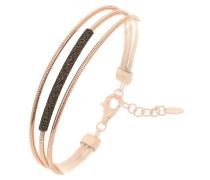 Armband dunkelbraun / rosegold