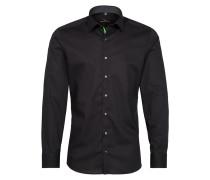 Langarm Hemd Slim FIT schwarz