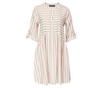 Kleid hellbraun / weiß