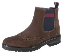Chelsea Boots dunkelblau / braun / rot