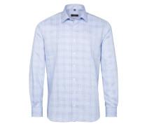 Langarm Hemd Modern FIT hellblau / weiß
