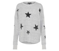 Sternmotiv Pullover grau / schwarz