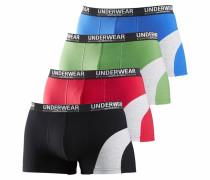 Boxer royalblau / grün / rot / schwarz