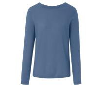 Rundhals-Pullover blau / taubenblau