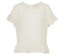 Bluse gelb / petrol / rosa / weiß