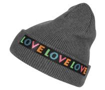 Beanie 'Love Turn' grau