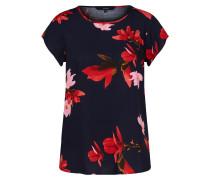 Shirt nachtblau / rot