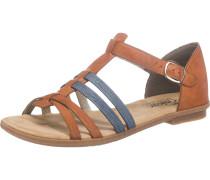 Sandale taubenblau / braun