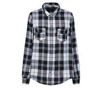 Bluse 'core Check' schwarz / weiß