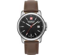 Uhr braun / silber / schwarz