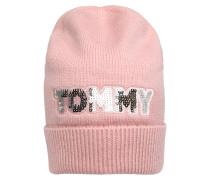 Mütze 'tommy Patch' rosa / silber