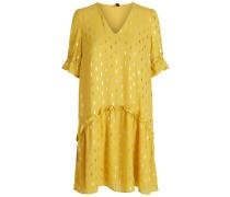 Kleid gelb / silber