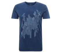 Shirt 'indigo Printed Tee' indigo