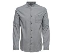 Jeans Kurzarmhemd grau