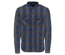 Hemd 'checked Indigo Shirt' blau / braun