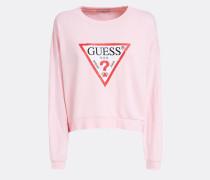 Sweatshirt rosa / rot / weiß