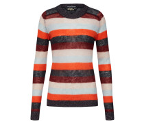 Pullover 'Knitted crew neck in colourful stripes'