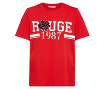 T-Shirt 'klara Rose Star' rot / weiß