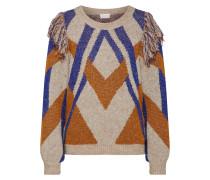 Pullover 'vichecksi Knit Jacquard Top' beige